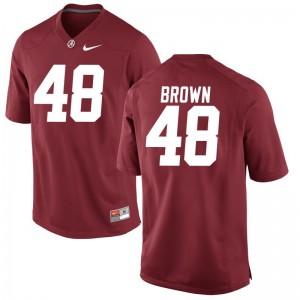 Men Mekhi Brown Jersey University of Alabama Red Game