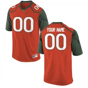 Miami Hurricanes Custom Jerseys For Men Limited Custom Jerseys - Orange