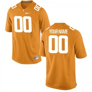 Mens Limited NCAA Tennessee Vols Custom Jersey Orange Custom Jersey