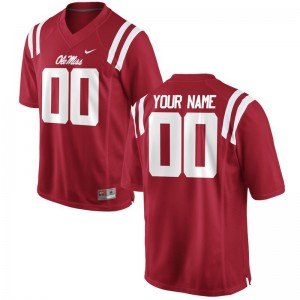 For Men Customized Jersey Ole Miss Limited - Red