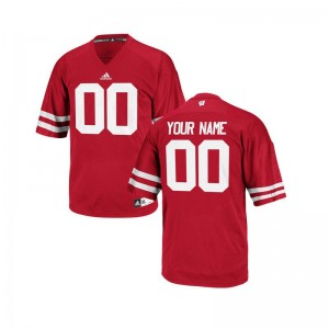 Red Limited Customized Jerseys Mens Wisconsin Badgers