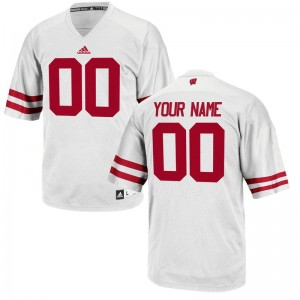 University of Wisconsin Custom Jersey For Men Limited - White