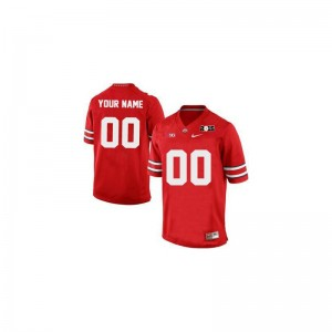 Ohio State Buckeyes Custom Jersey Red 2015 Patch Men Limited