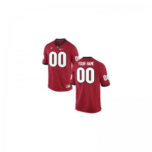 Limited For Men Georgia Bulldogs Customized Jerseys - Red