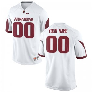 Arkansas For Men Limited Customized Jersey - White