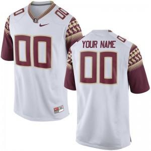 Seminoles Customized Jerseys Limited Men Customized Jerseys - White