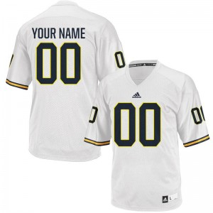 Michigan Customized Jerseys For Men Limited White
