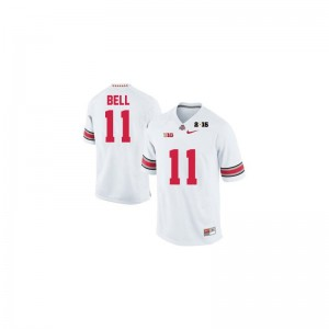 Game Vonn Bell Jerseys Ohio State #11 White Diamond Quest 2015 Patch Mens