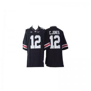 Ohio State Cardale Jones Jerseys #12 Black For Men Game