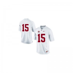 Game JK Scott Jerseys University of Alabama #15 White Men
