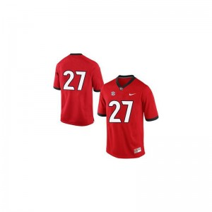 Nick Chubb Georgia Bulldogs Game Mens Jersey - #27 Red