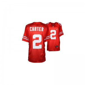 Limited Mens Ohio State Jersey of Cris Carter - #2 Red