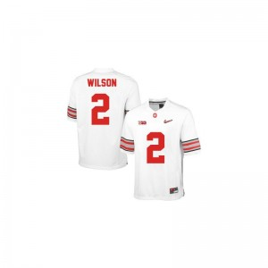 Dontre Wilson OSU Buckeyes Jersey #2 White Diamond Quest Patch Limited For Men