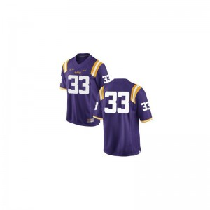 Game Jeremy Hill Jersey Mens Tigers - #33 Purple