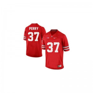 #37 Red Joshua Perry Jerseys Ohio State Men Game
