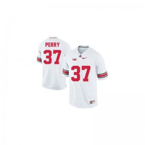 For Men Joshua Perry Jersey NCAA #37 White Limited Ohio State Jersey