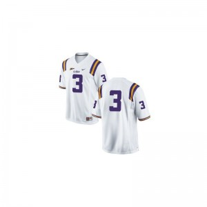 Kevin Faulk Men Jersey Tigers Limited #3 White