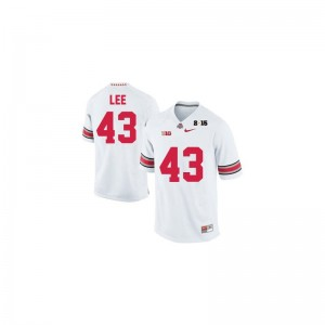 Limited For Men Ohio State Buckeyes Jersey of Darron Lee - #43 White Diamond Quest 2015 Patch