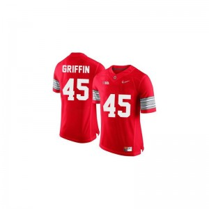 Archie Griffin Ohio State Jersey #45 Red Diamond Quest Patch Men Limited