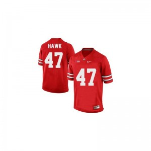 A.J. Hawk OSU For Men Jersey #47 Red Game Jersey