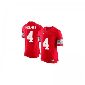Santonio Holmes Mens Jersey #4 Red Diamond Quest Patch Ohio State Buckeyes Game