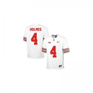 Santonio Holmes Ohio State Limited For Men Jersey - #4 White Diamond Quest Patch