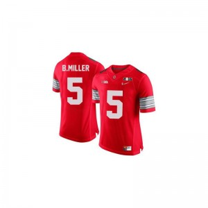 Ohio State Braxton Miller Game For Men Jersey - #5 Red Diamond Quest 2015 Patch