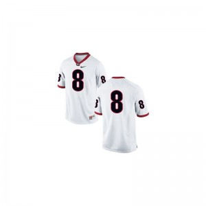 University of Georgia A.J. Green Jersey Football Mens Game #8 White Jersey
