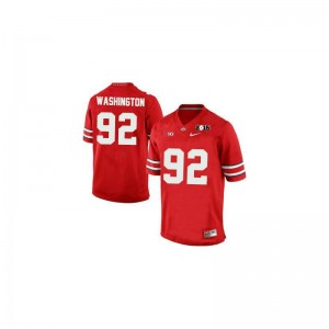 Adolphus Washington Ohio State Jerseys #92 Red Diamond Quest 2015 Patch Limited For Men