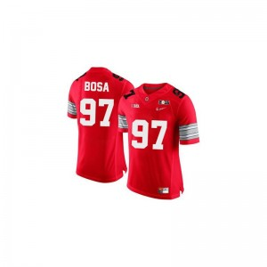 Ohio State Buckeyes Game Joey Bosa Mens #97 Red Diamond Quest 2015 Patch Jersey