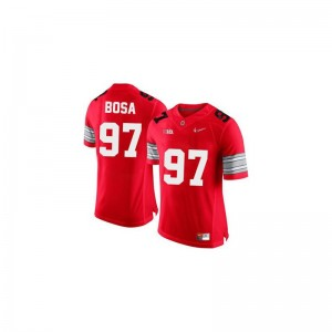 Mens Joey Bosa Jersey Official #97 Red Diamond Quest Patch Game OSU Jersey