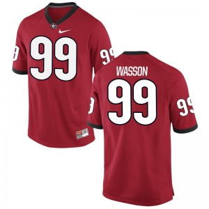 University of Georgia Jerseys Mitchell Wasson For Kids Limited - Red