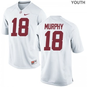 Montana Murphy Alabama Jerseys Game Youth(Kids) - White