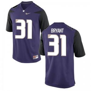 Myles Bryant Men Jerseys Game Washington Purple