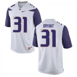 Myles Bryant University of Washington Jersey Limited For Men Jersey - White