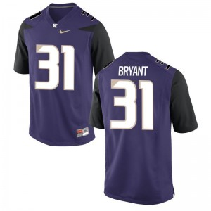 Washington Huskies Stitch Myles Bryant Game Jersey Purple Kids