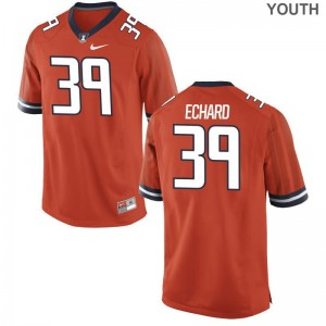 For Kids Limited Stitched UIUC Jersey Nathan Echard Orange Jersey