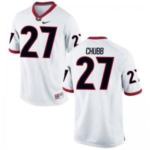 Nick Chubb Mens Jersey White UGA Bulldogs Limited