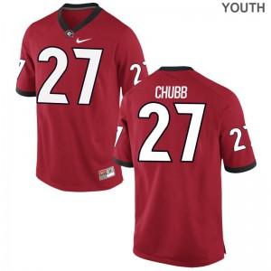 Nick Chubb Jersey Georgia Bulldogs Game Kids - Red