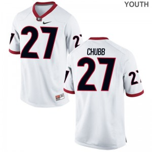 Georgia Nick Chubb Jerseys White Youth(Kids) Game