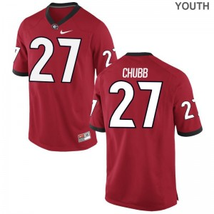 UGA Jerseys of Nick Chubb Limited Youth - Red