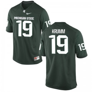 Nick Krumm Jersey Mens Michigan State Spartans Game Green