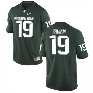 Nick Krumm Men Jerseys MSU Green Limited