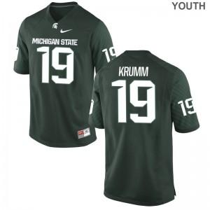 Green Nick Krumm Jerseys Spartans Game Youth(Kids)