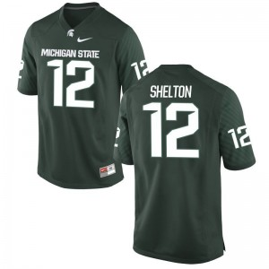 Michigan State Spartans R.J. Shelton Jerseys Green Limited Mens