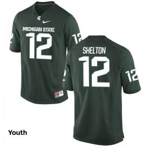 Limited Green R.J. Shelton Jerseys Youth(Kids) Spartans