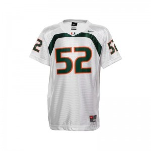 Ray Lewis University of Miami Youth Limited Jerseys - White