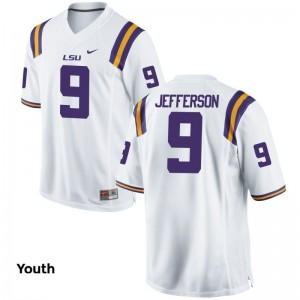 Tigers Youth Game Rickey Jefferson Jerseys - White
