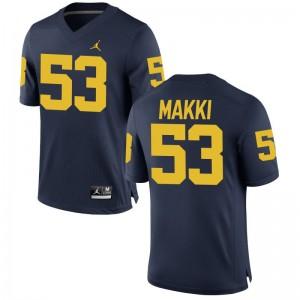 Michigan Salim Makki Game For Men Jerseys - Jordan Navy