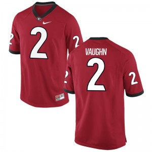 UGA Bulldogs Sam Vaughn Jerseys Red Game Mens